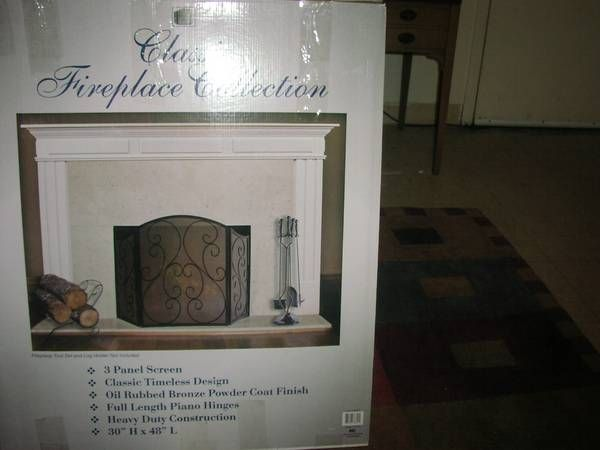 fireplace screen and tool set - craigslist, Norwalk - $45   home ...