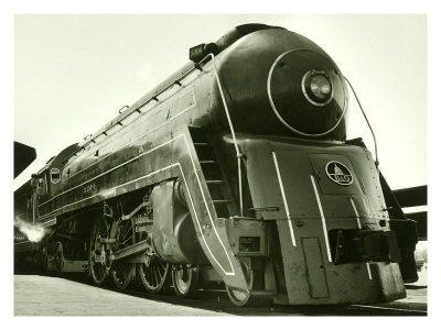 Deco Train Engine Giclee Print Art Com Train Train Engines Model Trains