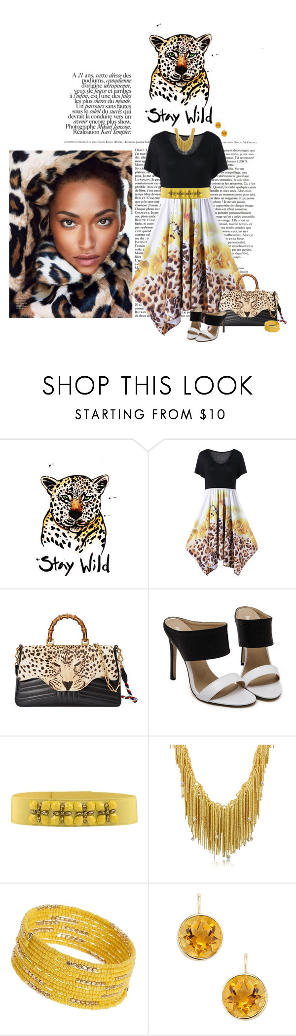"""Stay Wild"" by chileez ❤ liked on Polyvore featuring Gucci, Alberta Ferretti, Orlando Orlandini, Dorothy Perkins and Goshwara"