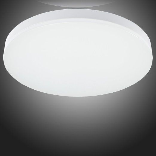 LED Flush Mount Ceiling Light Fitting For Living Room Bathroom Bedroom And Dining With Color Temperature White