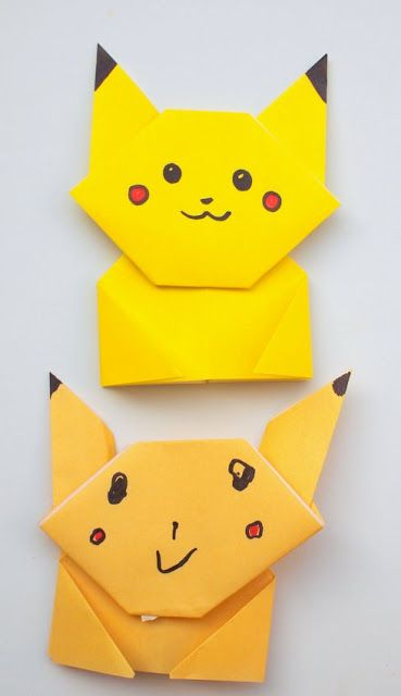How To Fold An Origami Pikachu Easy Step By Directions For All