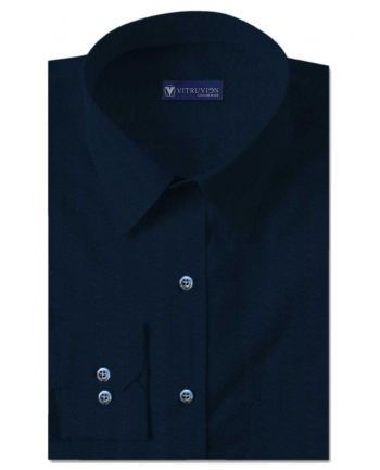 Buy Aldiana Prussian Blue party wear shirts for men made from a ...
