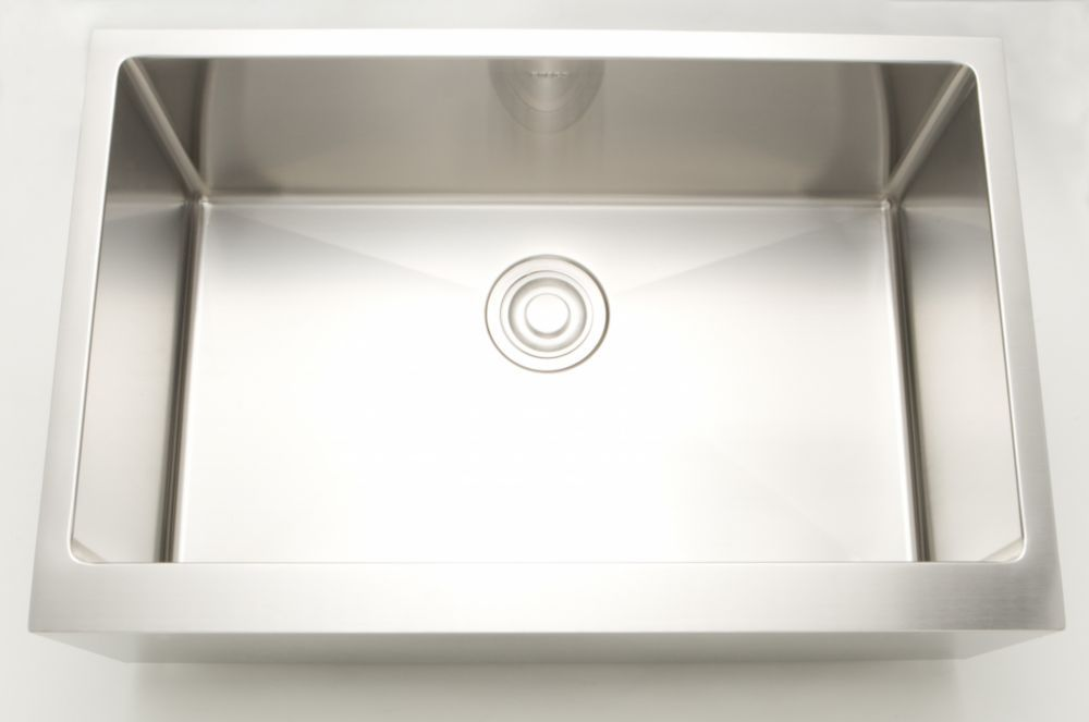 33 Inch W Single Bowl Undermount Kitchen Sink For A Deck Mount