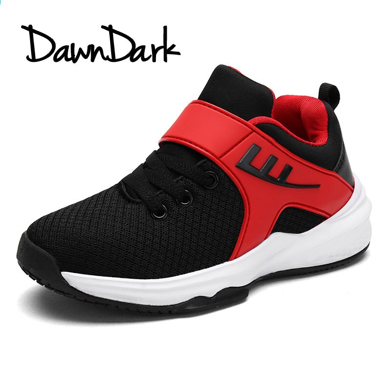 Dzieciece Buty Do Koszykowki Wysokie Kostki Mesh Oddychajace Chlopiece Buty Sportowe Czarne Czerwone L Boys Casual Shoes Kids Sports Shoes Casual Running Shoes