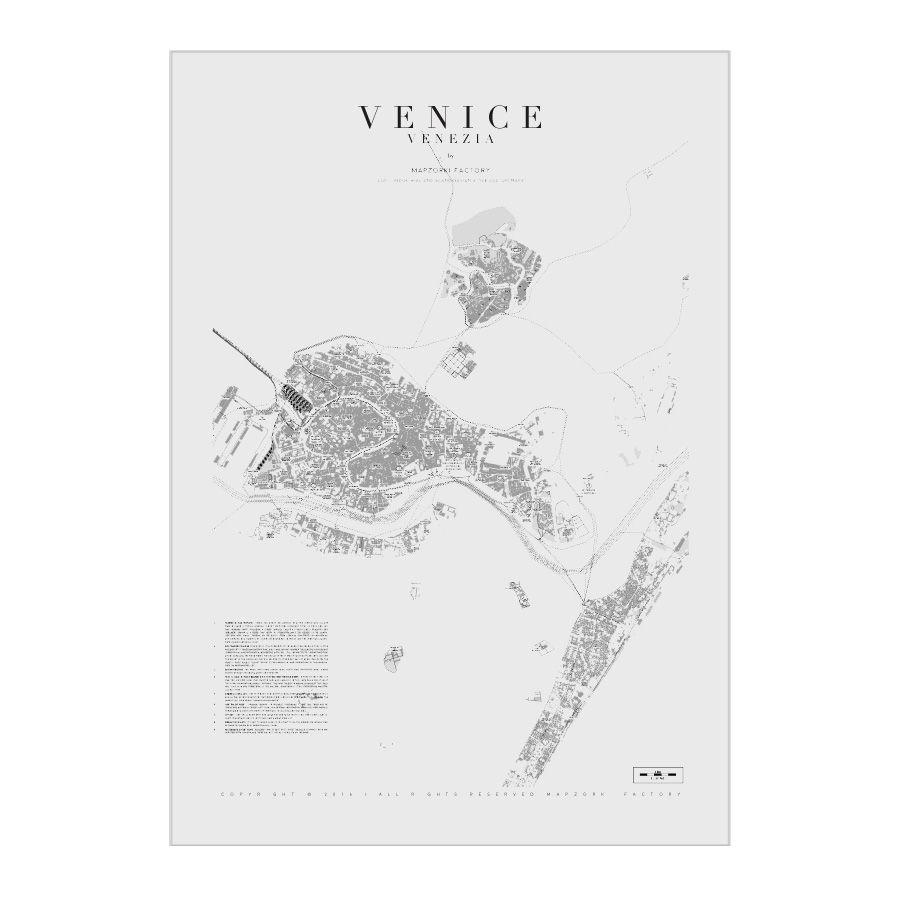Mapa Poster Plakat Venice Eco Mapzorki 702 Art Poster