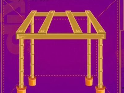 DIY Build Frame For Tiki Hut