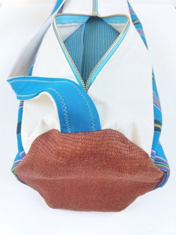 f8f870181e Turquoise Yoga Bag in Woven Fabric