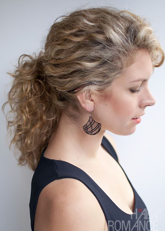 Curly hairstyle tutorial: The Curly Ponytail Curly hair