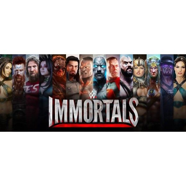 WWE Immortals is a free-to-play mobile fighter from NetherRealm... ❤ liked on Polyvore featuring wwe