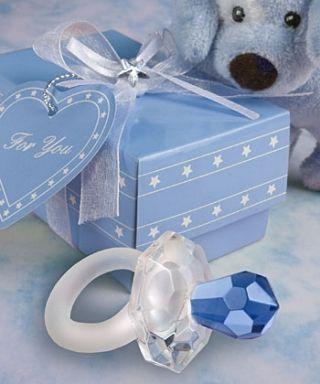 Gastgeschenke Kartonage Bonboniere Taufe Tischdeko Schnuller blau