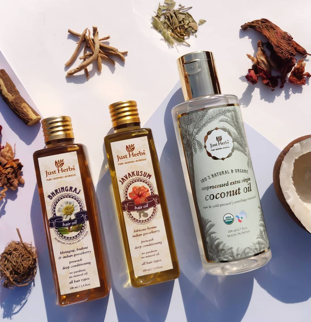 Just Herbs hair oils are classical Ayurvedic formulations
