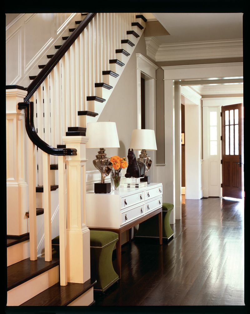 surprising white living rooms dark wood floors | Entry into my home! Also really like the wall color ...