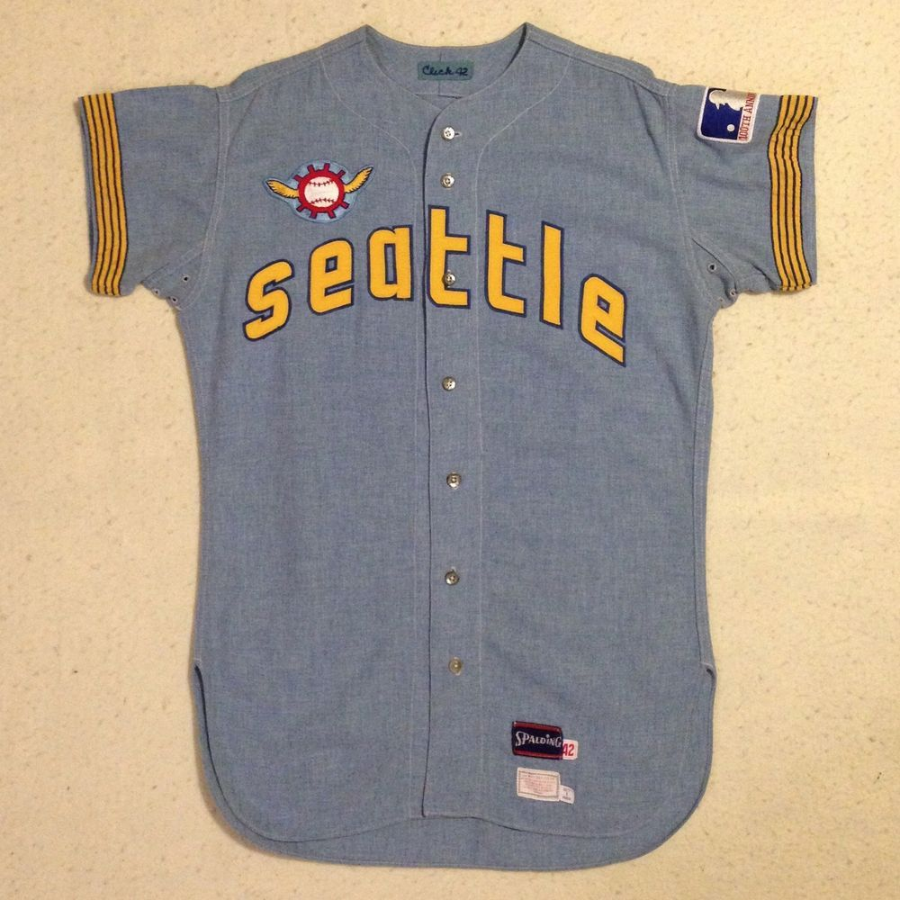 96a13433 1969 Seattle Pilots Paul Click Dick Bates Game Worn Used Road Jersey Mears  LOA   eBay