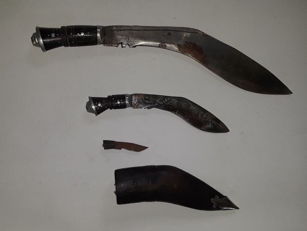 Training Aluminum Kukri Sword Pair Practice Gurkha