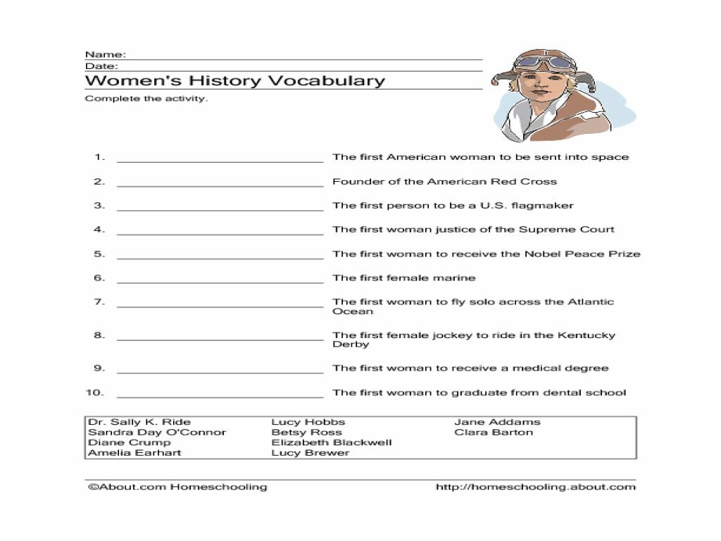 hight resolution of 7 6th Grade Vocabulary Worksheets Printable in 2020   Womens history month