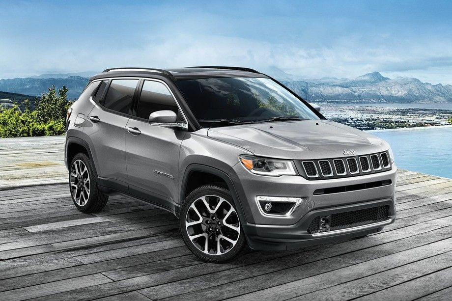 2019 Jeep Compass parked in charcoal grey Jeep compass