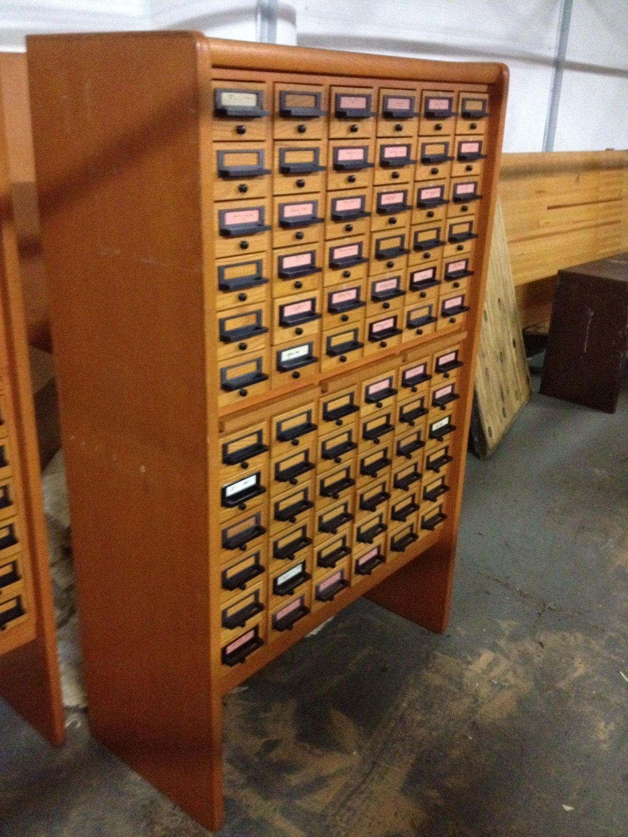 Vintage Library Card Catalog Cabinets for Sale- a couple available . - Vintage Library Card Catalog Cabinets For Sale- A Couple Available