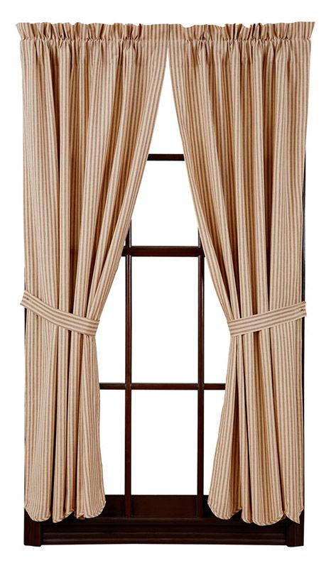 Millie Lined Scalloped Short Curtain Panels 63 X 36 Curtains