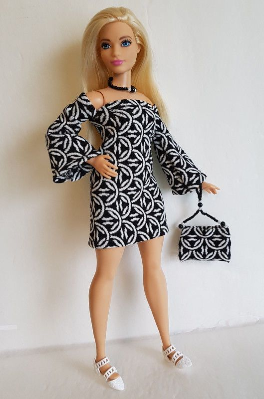 Details about CURVY BARBIE DOLL CLOTHES Dress, beaded Purse & Necklace HM Fashion NO DOLL d4e is part of Clothes Dresses Necklaces -