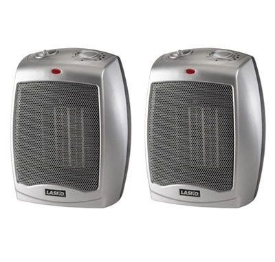 Lasko Ceramic Heater 2 Pack With Adjustable Thermostat 754200 Space Heaters Review Space Heater Ceramic Heater Lasko