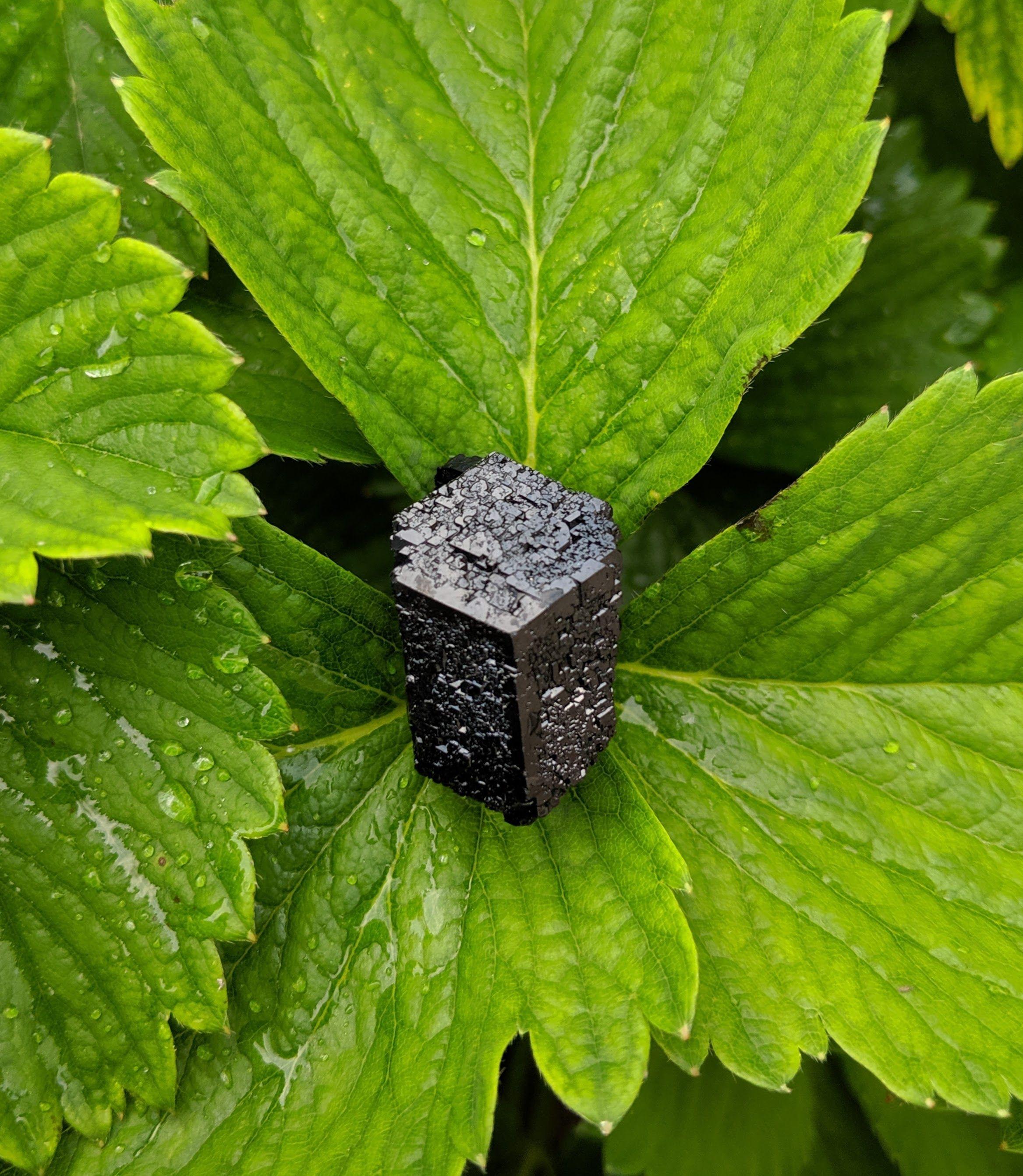Gorgeous jet black schorl (black tourmaline) crystal with