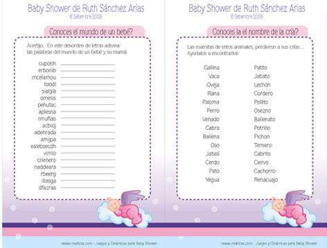 Juegos De Mesa Para Baby Shower Para Imprimir Grat Alojamiento
