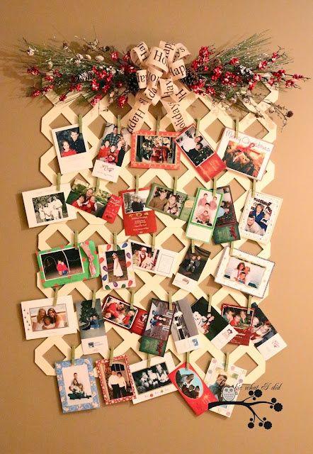 Lattice Christmas Card Displaycan Be Used All Year Round By Amazing Christmas Card Display Stand