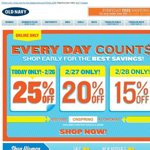 Old Navy 3 Days Of Online Only Deals Start Saving Today With 25 Off Old Navy Boys Online Best Savings