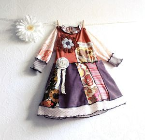 #toddler #falldress #girlsdress #clothing #fashion #children #Handmade #upcycled #recycled