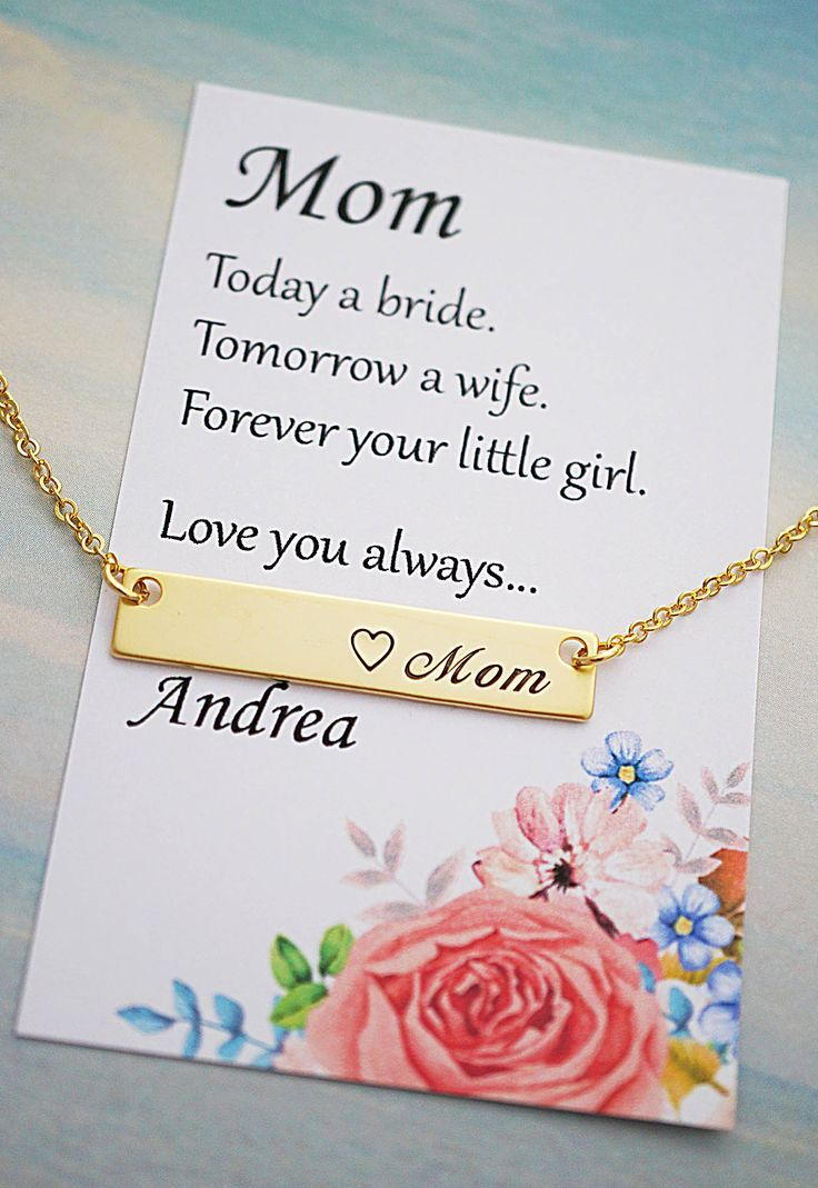 Mother Of The Bride Gift Necklace From Earringsnation In Law Mothers Day