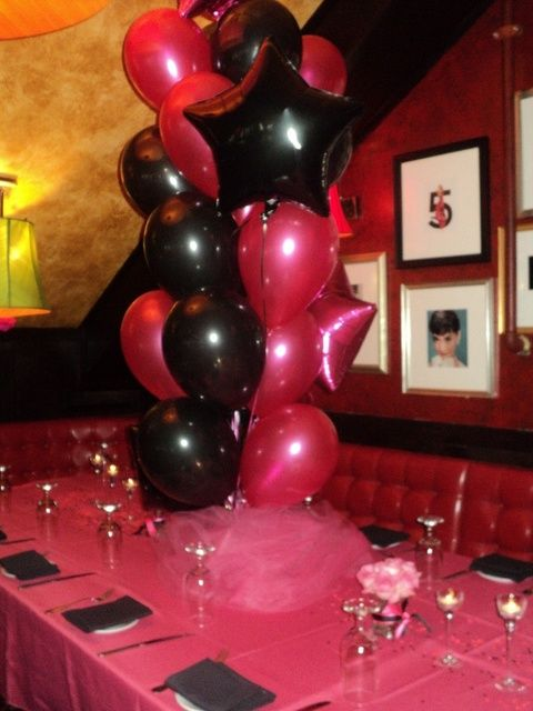 Hot Pink Black White And Sparkles Birthday Party Ideas Sweet 16