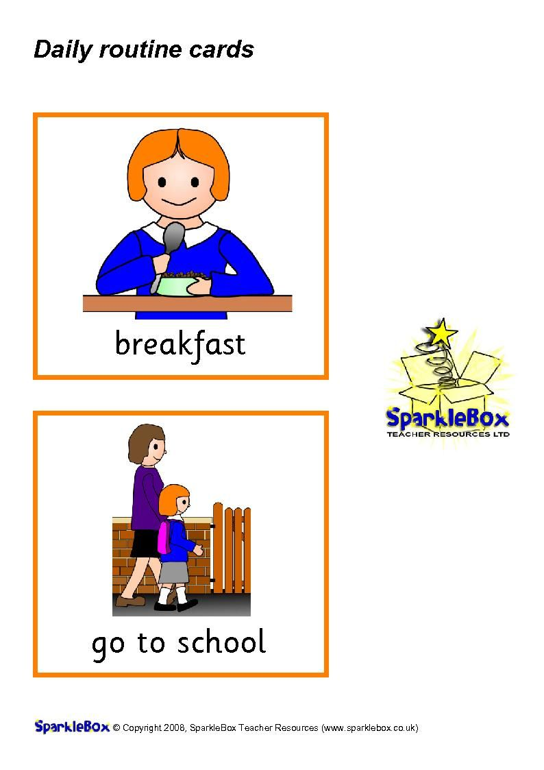 English Is Fun Daily Routine Flashcards Girl 1 Routine Cards Flashcards English Fun [ 1123 x 794 Pixel ]