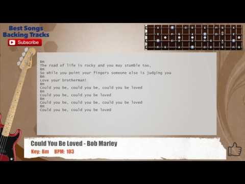 Could You Be Loved Bob Marley Bass Backing Track With Chords And