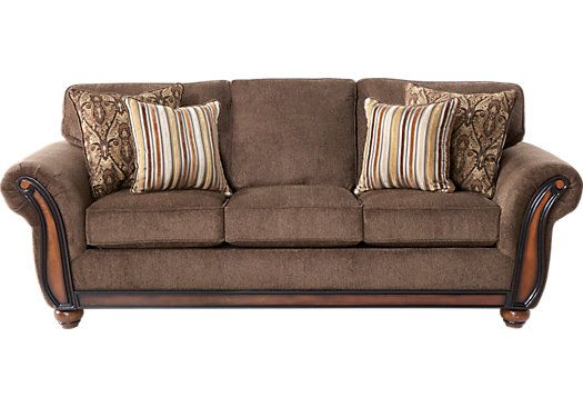 Ansel Park Brown Sofa For The Home Sofa Traditional