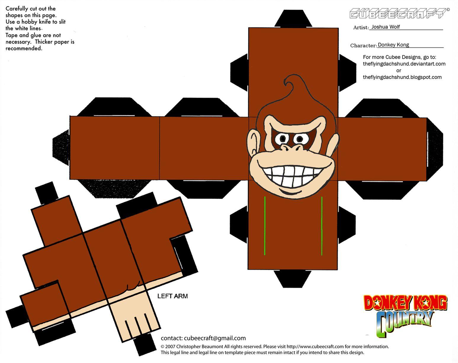 donkey kong paper crafts - Sök på Google | Donkey Kong ... - photo#36