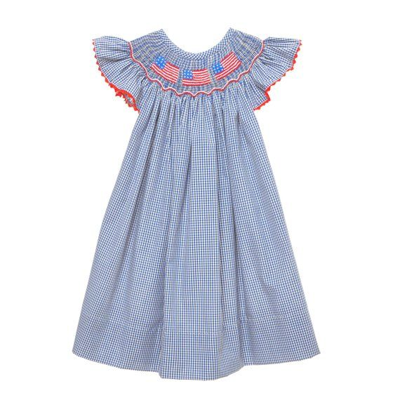 ced76323adaa95 Hand Smocked Flag Bishop Dress   Products   Dresses, Smocking, Clothes