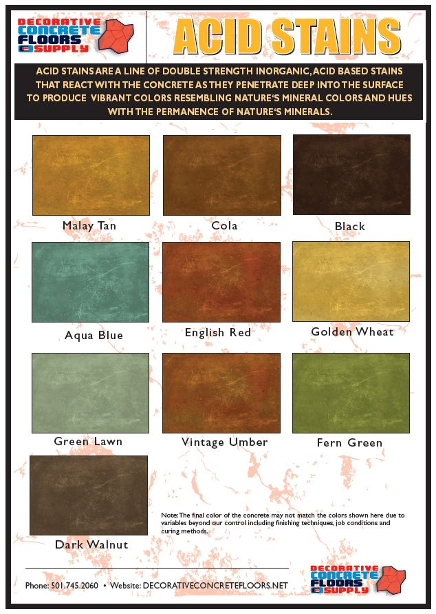 Decorative Concrete Floors Supply offers its own line of concrete