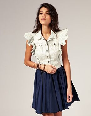 Miss sixty frill sleeve denim crop jacket 18963 top shop miss sixty frill sleeve denim crop jacket stylesays publicscrutiny Image collections