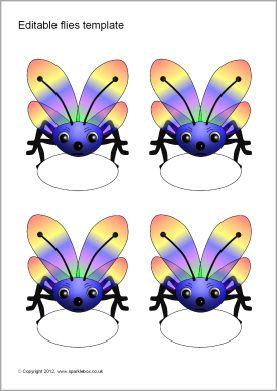 editable fly templates sb7396 sparklebox nozimites pinterest
