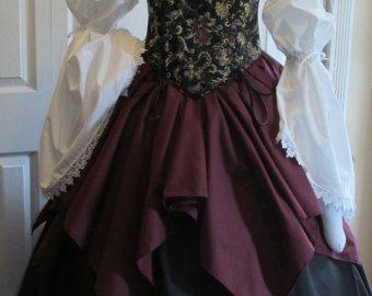 DDNJ Choose Fabrics 4pc Renaissance Corset by DungeonDudsNJewels