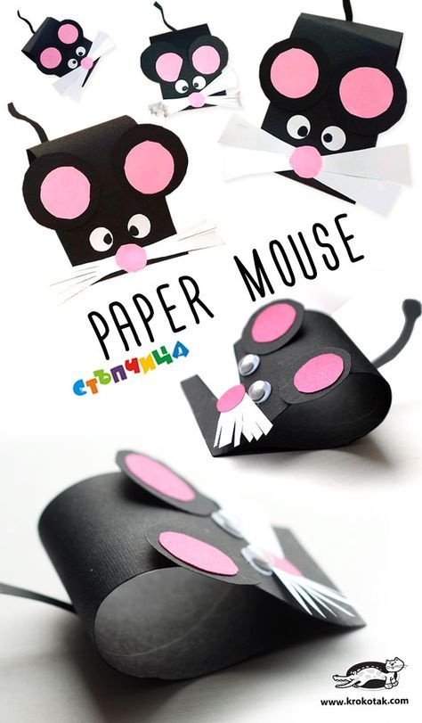 Paper Mouse Diy Paper Craft For Kids Or School Art Paper
