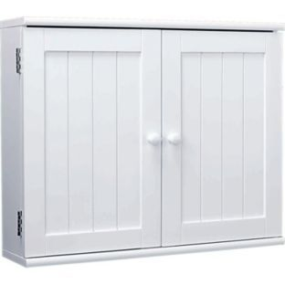 Buy 2 Door Wooden Bathroom Cabinet White at Argoscouk Your
