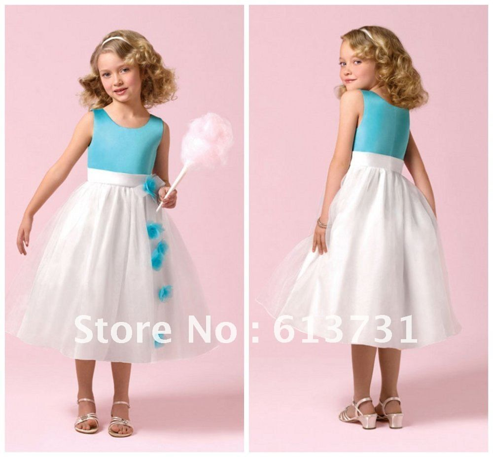 Aliexpress buy 2012 cheap cute round neck blue and white aliexpress buy 2012 cheap cute round neck blue and white cinderella flower girls flower girl dress patternscheap ombrellifo Gallery