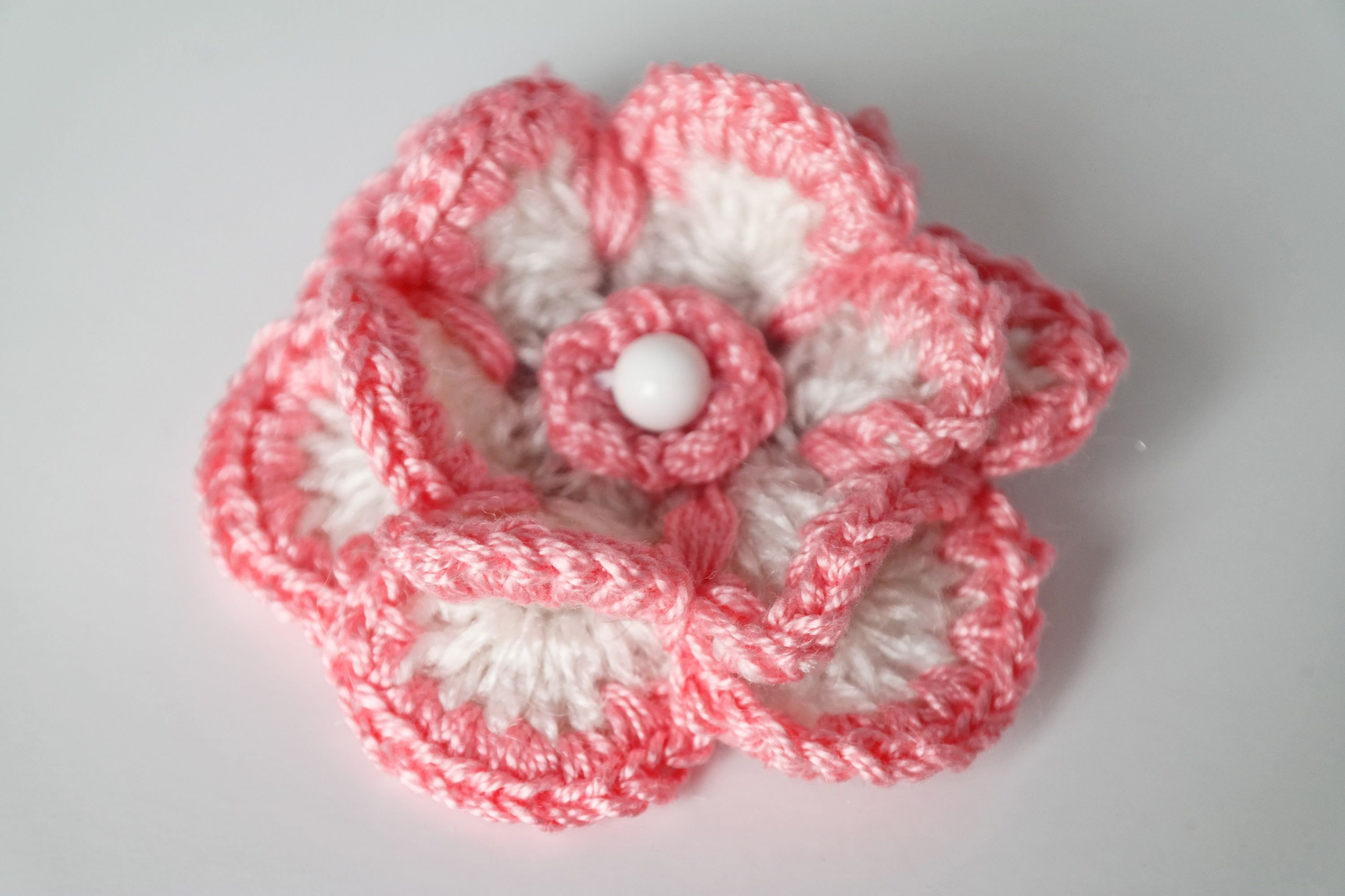 flower basket bicycle flowers brooch crochet crocheted