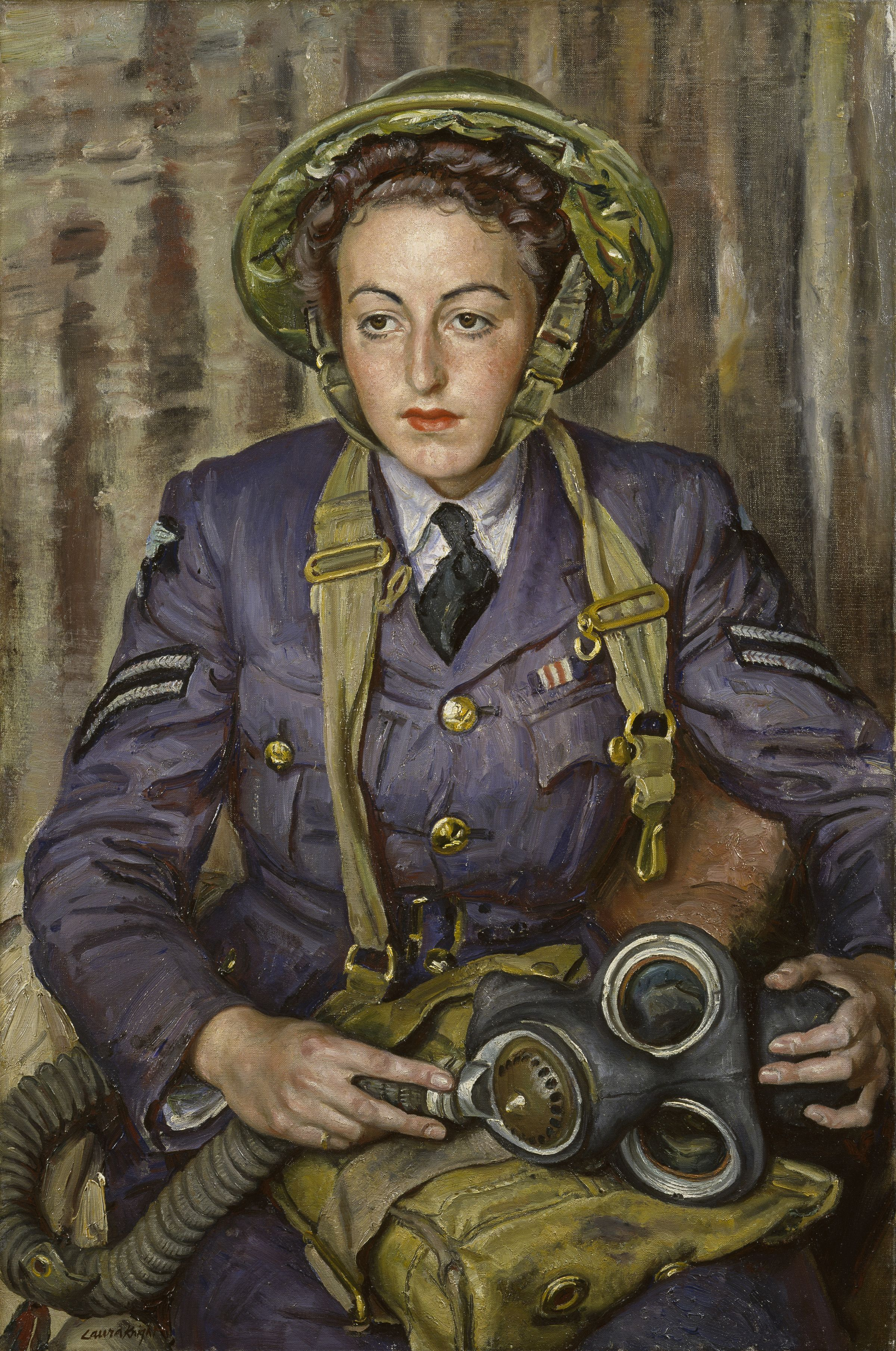 'Corporal J. Robins, Women's Auxiliary Air Force', 1941 by Dame Laura Knight