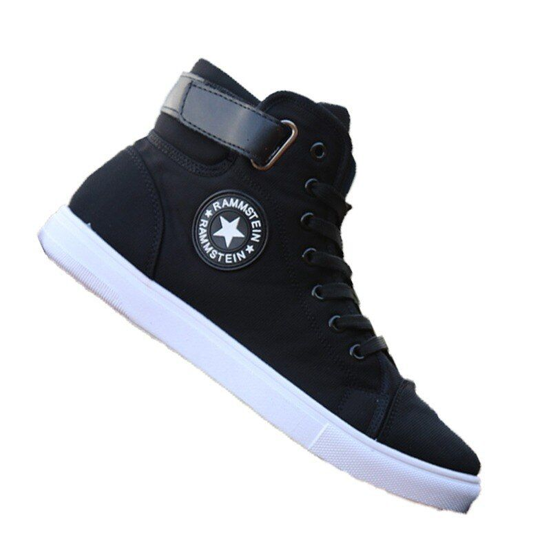 Men High Top Shoes Men Sneakers Breathable 2019 Fashion Lace Up