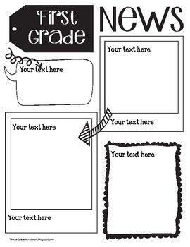 all grades cute doodle newsletter templates teaching ideas