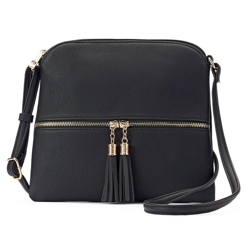 Deluxity Shiloh Tassel Crossbody Bag, Women's, Black
