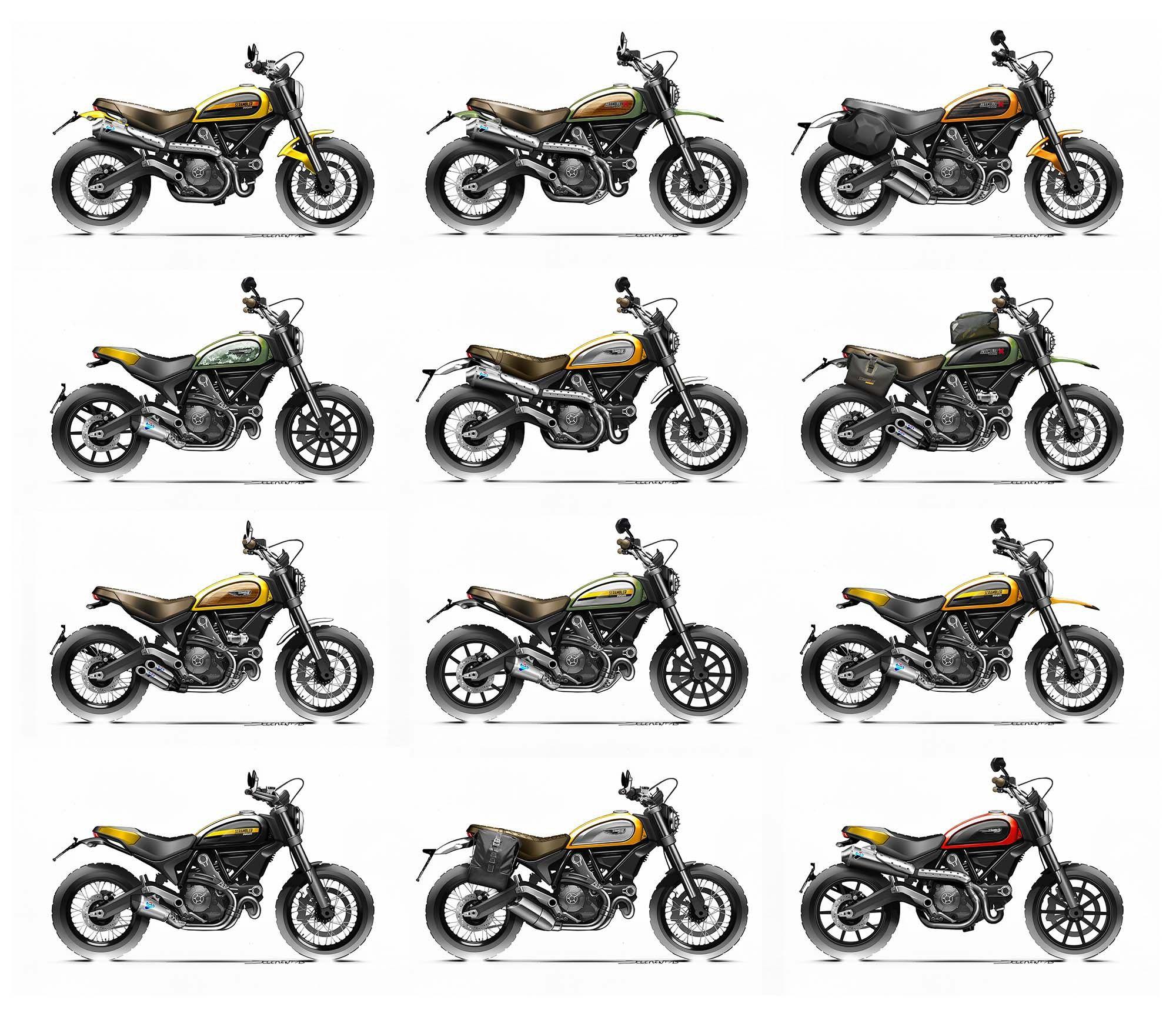 Ducati Scrambler Varianten