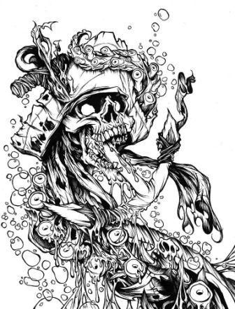 Skeleton Pirate Tattoo Designs